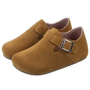 New Cork sole kids casual shoes Breathable Boys beach sandals Pu Leather Baby Children shoes girls single 6 T
