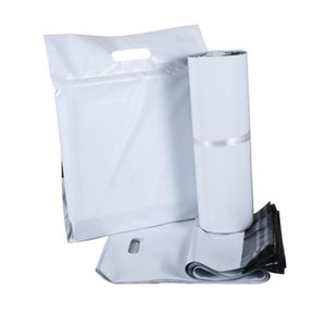 100pcs Lots White Tote Bags Courier Bag Express Envelope Storage Bags Mail Bag Mailing Bags Self Adhesive Seal Plastic Packaging Pouch