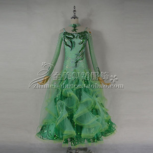 2018New robe de danse de salon de la concurrence, des vêtements de danse juvénile, robe de bal de la scène, robe Tango, robe de bal