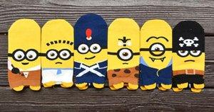 toptan !! 12 Adet karikatür çorap bahar komik çorap sevimli Despicable Me pamuk kısa çorap SM887