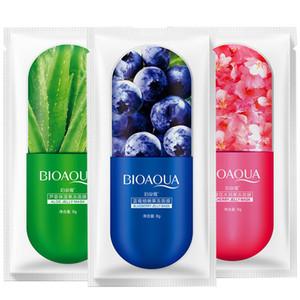 뜨거운 새로운 BIOAQUA 젤리 보습 수면 젤리 페이셜 마스크 1PCS 옵션 페이스 케어 알로에 베라 / 블루 베리 / 벚꽃 세 가지 유형의 마스크