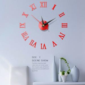 DIY Wall Clock 3D Mirror Surface Art Sticker Decals Modern Home Office Art Decor