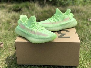 ssYEzZYYEzZYs v2 350boost Hot Sale Kanye West Clay V2 Static Reflective GID Glow In The Dark Mens Running Shoes Hyperspace T
