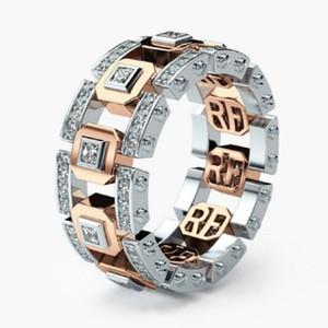 Mode créative Hallow Anneaux Couple pour homme femme 14K plaqué or cristal doigts Anneaux Lovers mariage Valentines'Gifts bijoux en gros