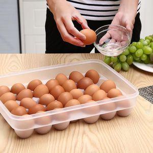 Temizle 34 Izgara Yumurta Saklama Kutusu Plastik Konteyner Yumurta Gıda Konteyner Buzdolabı Mutfak Organizatör Yumurta Kutusu Ile Kapak
