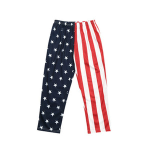 Toddler Boy Print Trousers American Flag Independence National Day USA 4th July Summer Boy Solid Color Star Printed Holiday Leisure Trousers