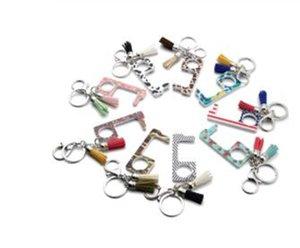 Porta mão metal EDC Contactless Segurança Opener Multi-funcional chaveiro Bronze Hand Tool