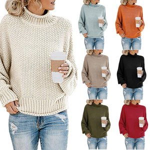 New knit sweater European and American foreign trade women's thick line turtleneck sweater women