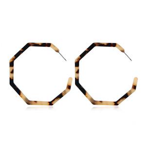 Pendientes de aro de círculo de acrílico Actualización de pendientes de resina geométrica Exquisito acetato Colgante Stud Regalos de Ms.