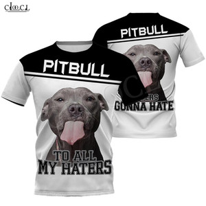 2020 Mode animaux Pitbull Pour Haters 3D Full T-shirt imprimé Hommes Femmes Harajuku Dog Casual Pet design Tops style Punk