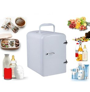 Mini Car Refrigerator 4L Cooler Warmer Portable Compact Personal Fridge Semiconductor Electronic Fridge For Home