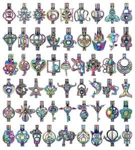 700 projetos para você escolher -Pearl gaiola Beads gaiola medalhão Pendant Aroma Essencial difusor de óleos Locket DIY colar brincos pulseira Jóias