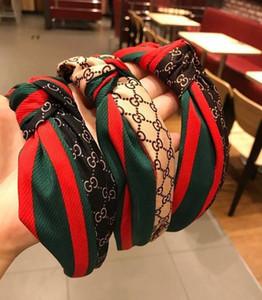 Bandas de diseño de lujo venda de la manera de las mujeres elásticos del pelo del paño de seda salvaje exquisito diadema Pelos joyería y accesorios