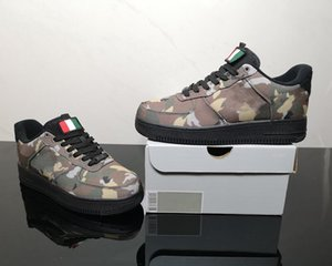 Hot Sale One Low Italy Country Camo Mens Designer Skateboard Shoes New Comfort 1s Ale Brown Black Cargo Khaki Fashion Sneakers With Box