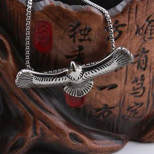 Vintage Heavy Men Silver Eagle Wings ожерелье из нержавеющей стали ювелирные изделия