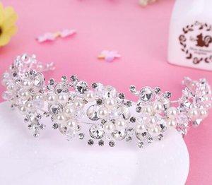 2019 coreano Corona Copricapo sposa fatto a mano Pearl acqua diamante della corona gioielli di capelli dei monili Matrimonio Headwear vendita diretta della fabbrica