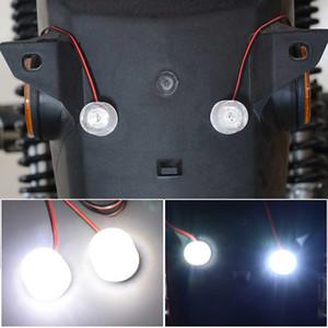 Mini Dual Motorrad Eagle Cat Eye-Licht 12-85 V Kontrollleuchte Heckwarnlicht Weiß Konstanter Heller Burst-Blitz