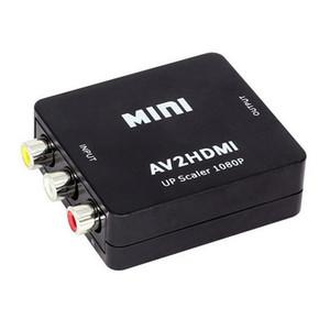 2019 Yeni hdmi konnektörleri Mini AV hdmi Video Dönüştürücü Kutusu RCA AV CVBS HDTV TV için HDMI Adaptörü