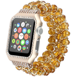 Cristal elegante para Apple Watch banda de acero inoxidable 38 mm 42 mm 40 mm 44 mm Banda para iWatch Series 4 3 2 1