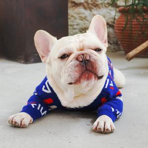 müzik marka harfler sonbahar ve kış sıcak çekirdek iplik güzel Fransız dövüş köpek giysileri Pet köpek giyim 89122 kazak kazak