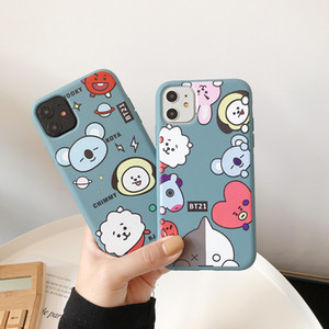 Hot Luxury design cartoon BT21 Diamond pattern phone case for iphone X XR XS 11 Pro Max 6S 7 8 plus Cute phone cover coque holder