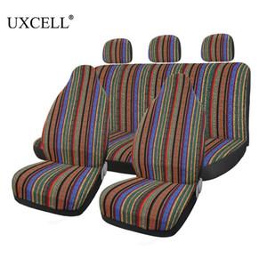 utomobiles 시트는 자동차 자동차 자동차 보호 해주는에 대한 Uxcell 7PCS 범용 멀티 컬러 바하 담요 민족 스타일 내구성 버킷 시트 커버를 커버 ...