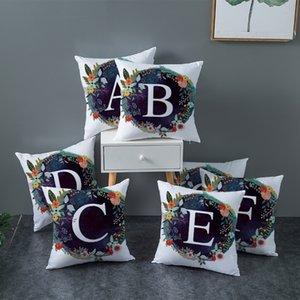 Pillowcase Letters A-Z Drucken Bunte Printed Einfache 45 * 45cm Kissenbezug Mode Kreative Schöne Blumen-nette Kissenbezug