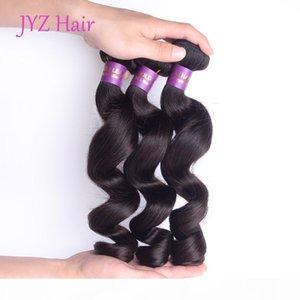 Brazillian Peruvian Indian Malaysian Loose Wave Human Hair Bundles 100% Human Hair Weaving Natural Black Loose Wave Human Hair Extensions