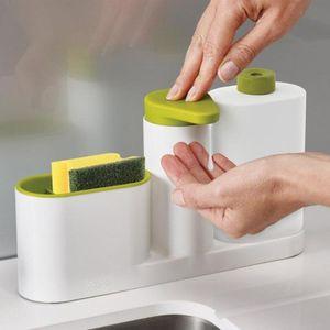Kitchen Washing Sponge Storage Shelf Sink Detergent Soap Dispenser Storage Rack Organizer Stands Kitchen Supplies Shelve
