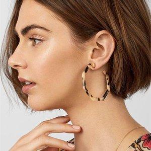 Geometrical Shape Acrylic Hoop Earrings For Women 2020 New Arrival Pendientes Fashion Circle Earrings