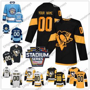 Custom Pittsburgh Penguins # 29 Samuel Poulin Jerseys Cualquier Número Nombre hombres mujeres jóvenes niño Negro Blanco Azul Amarillo Crosby Malkin Kessel Letang
