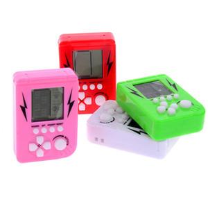 Mini-jogo tijolo Tetris Crianças Handheld do jogo console portátil de LCD Jogadores Crianças brinquedo educacional brinquedos eletrônicos clássico
