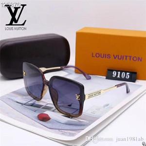 2020 럭셔리 패션 디자이너 남성 여성 유리 렌즈 UV 보호 선글라스 008 대형 금속 태양 안경