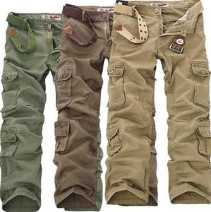 Plus Size Pants Mens carga solta Moda Longo Designer Mens Calças Primavera Outono Pockets Calças Casual Masculino