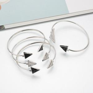Geometrisches Dreieck öffnet Armband-Stulpe-Armband-Punk Marmor Muster Stein Adjustable Charm Bracelets Pulseras Schmuck-Geschenk für Frauen