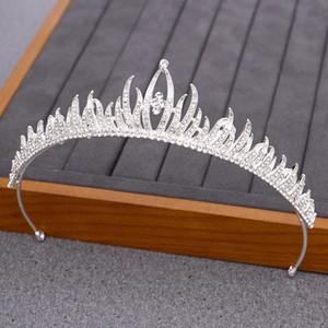 NPASON Argent strass Princesse mariage diadème Bandeau mariée Couronne et mariage Diadèmes Accessoires cheveux Mesdames Coiffe