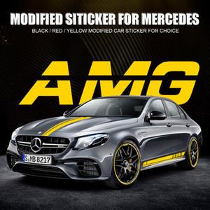 Karosserie-Aufkleber Aufkleber Seitenschweller Aufkleber für Benz AMG neue E / C / A-Klasse Modified