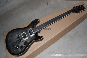 Kargo BEDAVA üst Kalite klasik tarzda Amber kuş Klavye PRS 513 siyah kenar gri Elektro Gitar