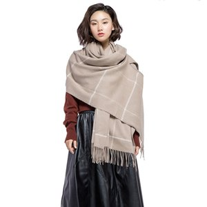 Lady Spring Winter 80*194cm High Quality Wool Scarf Women Mother Thickness Keep Warm Outdoor Camping Picnic Beadh Travel Shawl