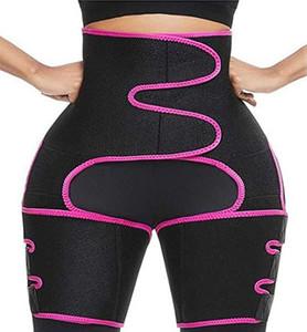 DHL Expédition Body Shaper Taille jambe Femmes Entraîneur postpartum Ventre Minceur Sous-vêtements amincissants Modeling Sangle Tummy Fitness Corset FY8054