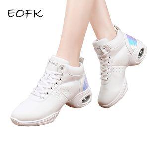 EOFK as sapatilhas das mulheres Tenis Mujer 2019 Shoes Mulheres Tênis Bling White Light Female Sneakers Gym Fitness Tenis Feminino