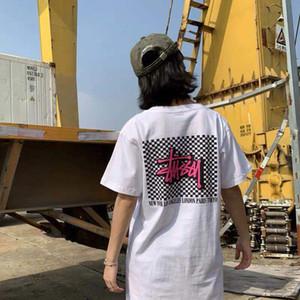 2020 Luxe New Street Tendance Brandstussy-noir et blanc Designer hommes et T-shirt d'été Femmes Mode