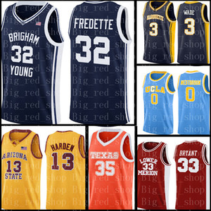 Brigham Young Cougars Jersey 32 Jimmer Fredette Basketball Maillots Université Hommes Cheap de gros Jersey broderie Logos