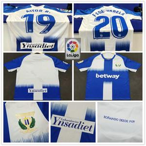 2019 2020 Club Deportivo Leganes Fußball-Trikots AITOR R. FEDE VARELA EN-NESYRI EL Zhar Gewohnheit Leganés SAD Erwachsene Kinder-Jugend-Fußball-Hemd