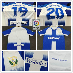 2019 2020 Club Deportivo Leganes Maillots de football AITOR R. FEDE VARELA EN-NESYRI EL Zhar personnalisé Leganés SAD Adulte Football Enfants Jeunes T-shirt