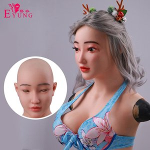Eyung Mask Female Realistic Top Goddess Cup Transgender E mama Forms Face principal Cosplay Com Silicone Masquerade Jdmpa