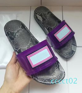 New Imitation Snakeskin Luxury Sandals PVC Clear Fashion Brand Designer Slides Mens Womens Outdoor Beach Luxury Slides Size 35-46 ct2