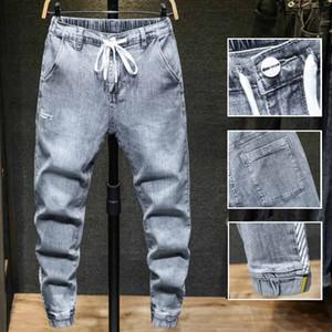 Neue Art und Weise der Männer einfacher leichte Jeans-beiläufige festen klassische gerade Denim-Hosen Designer Jeans Hip Hop Street Plus-1922