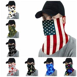 PM2.5 Magic Filter Mask Sciarpe bandiera USA adulto all'aperto Viso Sciarpa Turbante collo in bicicletta Bandane solare protettiva Maschera LJJA4078