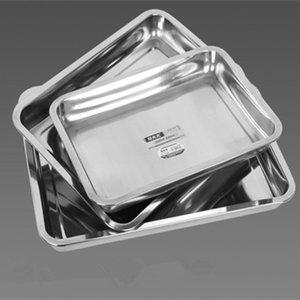 prezzo di fabbrica inossidabile piastra quadrata vassoio rettangolare piatto riso al vapore pesce acciaio inox 430 05 08 48 spessore spessore